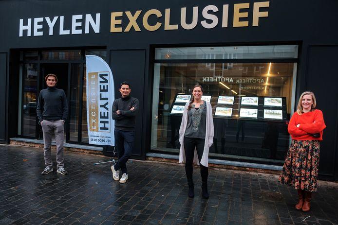 Heylen Exclusief heeft een nieuw kantoor op de Bredabaan met onder meer de verkopers Alexander, Tine en Marijke. Yves Chung van Pellegrini Design stond in voor de inrichting.