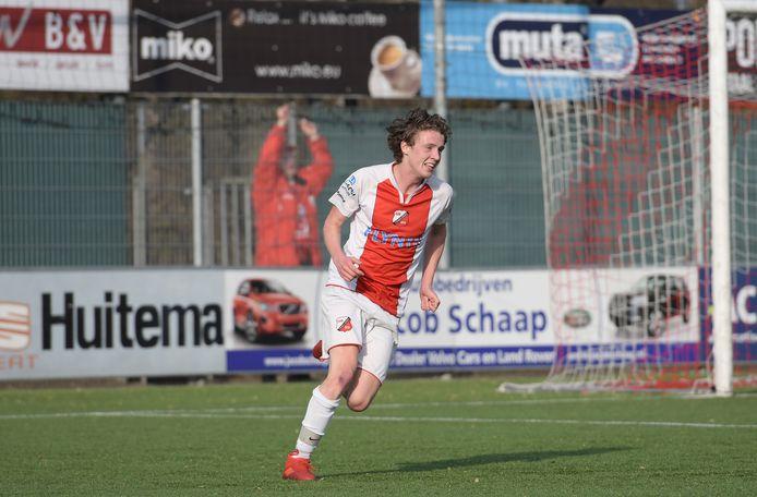 Johan Tiems scoorde voor Flevo Boys, maar zijn ploeg verloor toch van ACV.