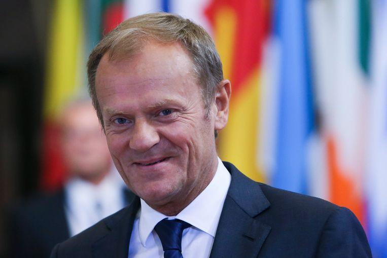 Europees president Donald Tusk. Beeld EPA