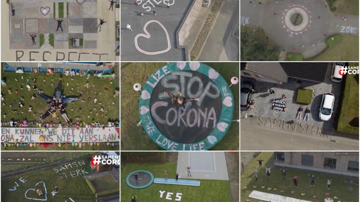 Onze drone vliegt vrijdag over Tilburg: steek Nederland een hart onder de riem!