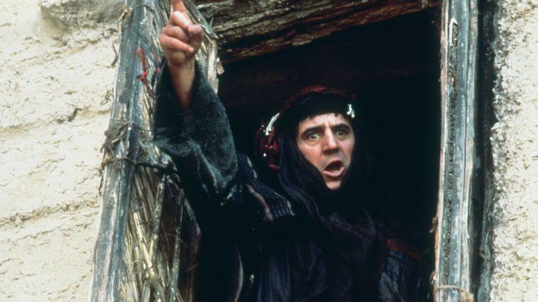 Terry Jones in 'Life of Brian', de derde Monty Python-film. Hij was de regisseur en nam verschillende rollen voor zijn rekening.