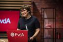 Lijsttrekker Lilianne Ploumen tijdens het PvdA-partijcongres. Ze wil 'met de linkse partijen samenwerken voor een beter Nederland.'