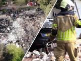 Dronebeelden laten verwoesting van Bowlingboerderij in Nijverdal goed zien