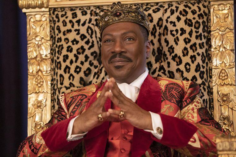 Eddie Murphy als koning Akeem in 'Coming 2 America'. Beeld Alamy Stock Photo