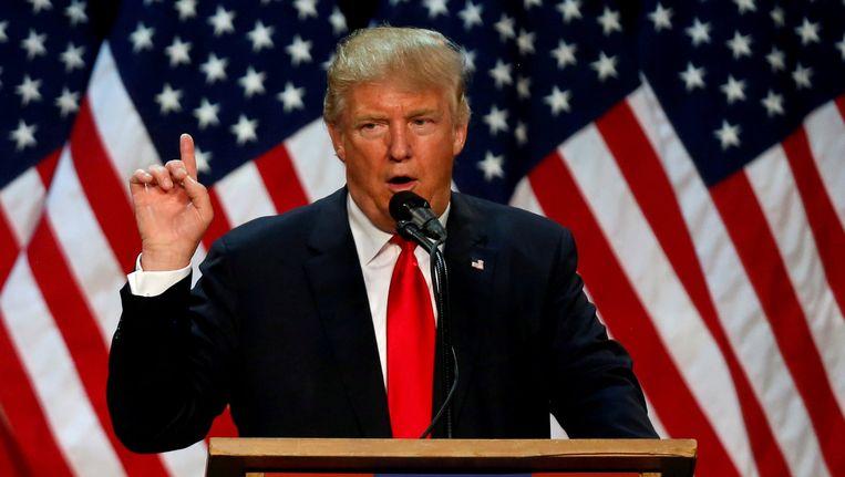 Nadat Ted Cruz en John Kasich deze week de handdoek in de ring wierpen, is Donald Trump de enige overgebleven Republikeinse presidentskandidaat. Beeld reuters