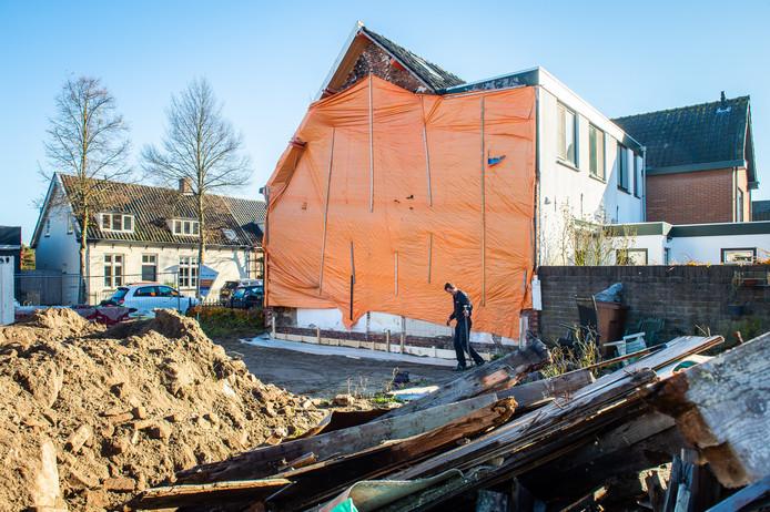 Er is een start gemaakt met de bouw aan de Hoolstraat 60 in Teteringen. Pix4Profs/René Schotanus