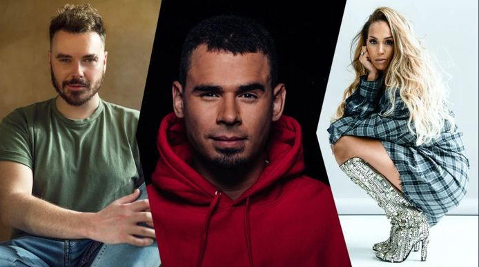 Wulf, Afrojack en Glennis Grace treden op in de pauze van de Songfestivalfinale.