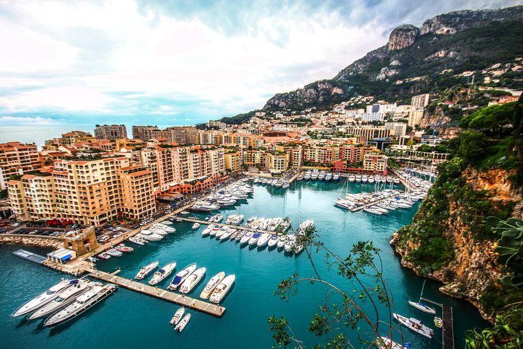 De haven van Fontvieille in Monaco.