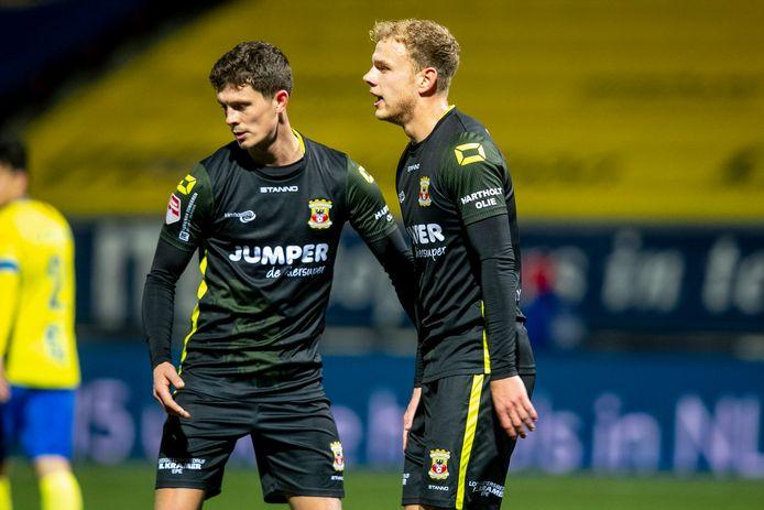 Bas Kuipers en Luuk Brouwers zitten met corona aan de kant bij GA Eagles.