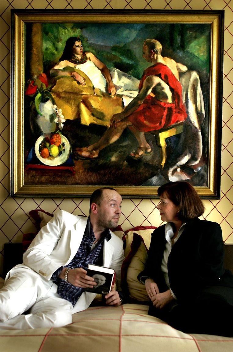 Oscar van de Boogaard en Sylvia Kristal, 2005. Beeld null
