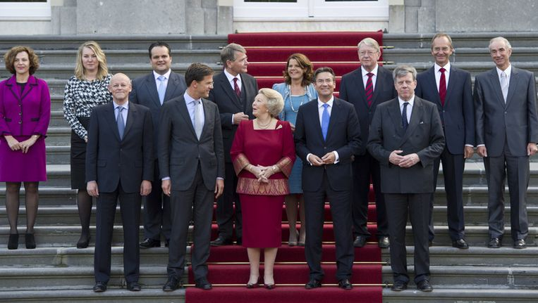 Het kabinet-Rutte I; wie mogen blijven en wie moeten plaatsmaken voor vers bloed? Beeld ANP