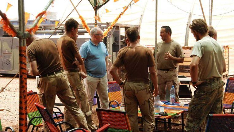 Minister Frans Timmermans bezocht de Nederlandse militairen in Mali Beeld anp