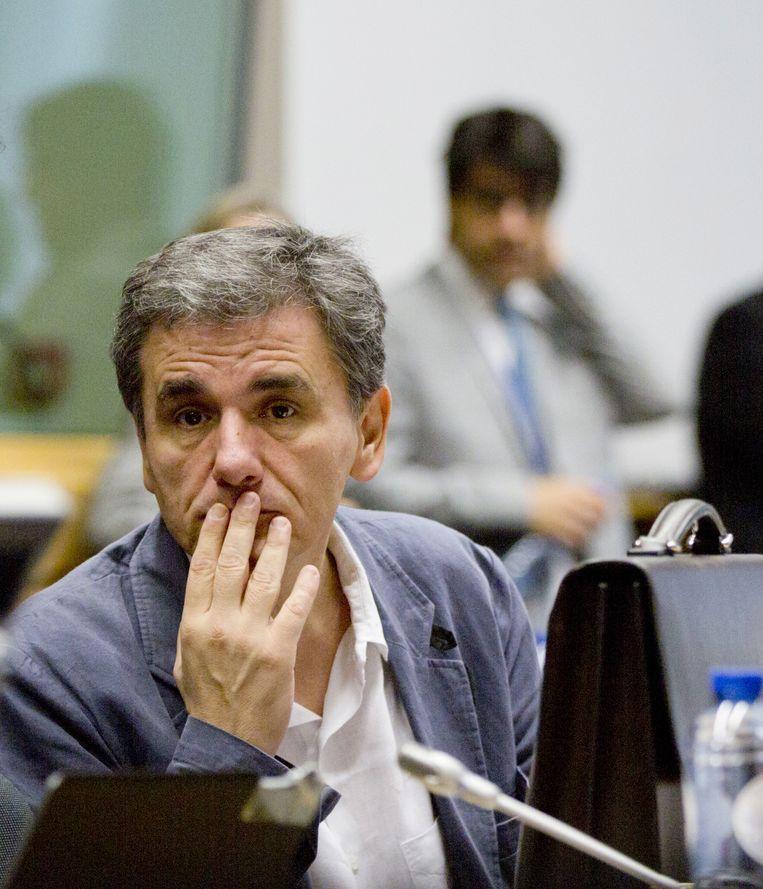 Euclides Tsakalotos, Griekse minister van Financiën. Beeld AP