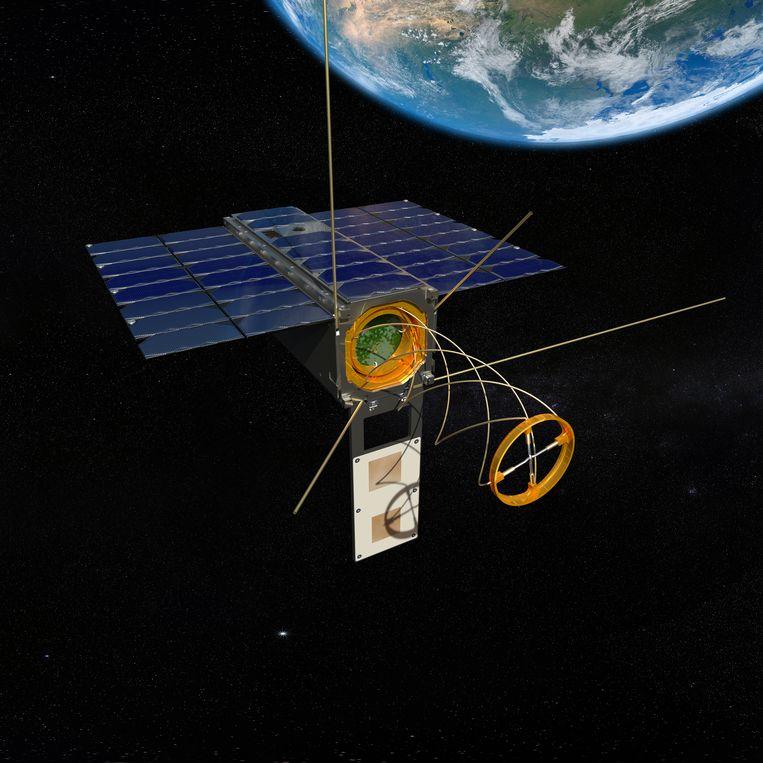 Satellieten van het Amsterdamse Hiber. Beeld Hiber