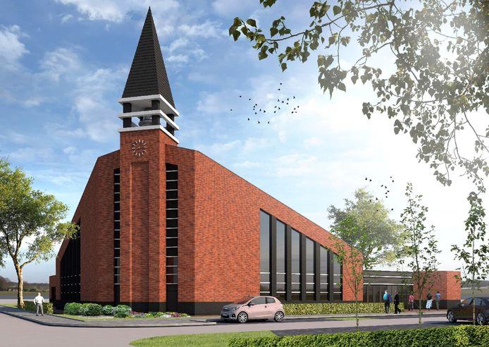 De Hersteld Hervormde gemeente IJsselmuiden-Grafhorst wil in het Sonnenbergkwartier een kerk bouwen met 650 zitplaatsen.