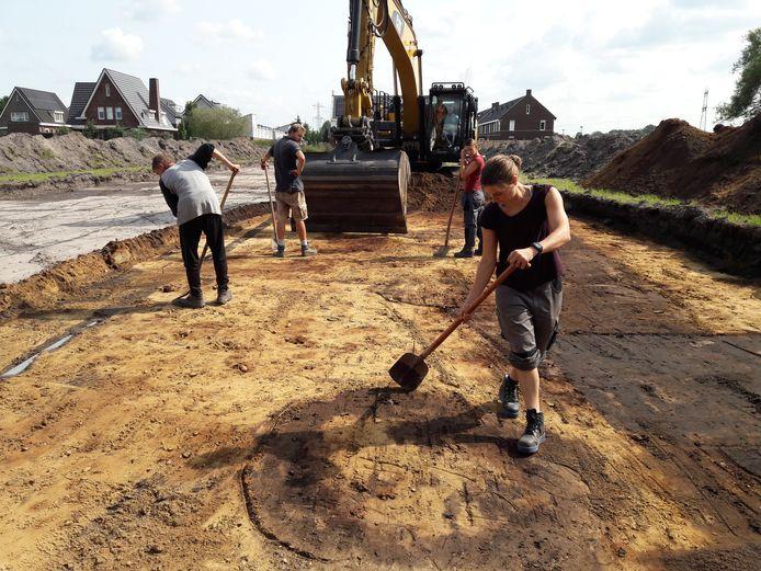 Archeologen aan het werk in Nistelrode.
