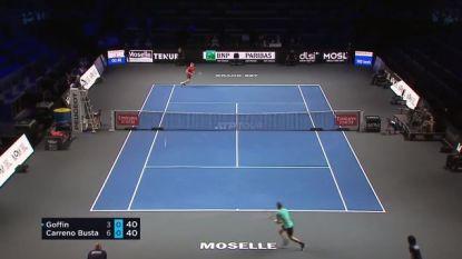 Metz is de US Open niet: David Goffin kansloos onderuit tegen Spanjaard Carreno Busta
