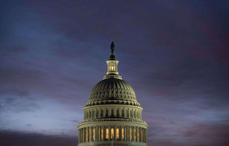 Het Capitool, waar het Amerikaanse Congres zetelt. Beeld afp