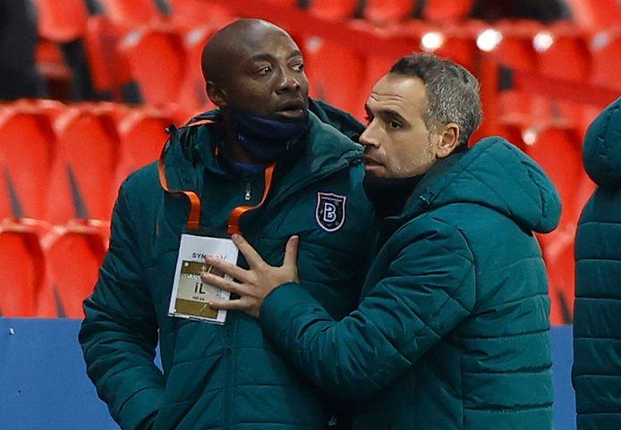 Pierre Webó, de assistent-trainer van Istanbul Basaksehir.