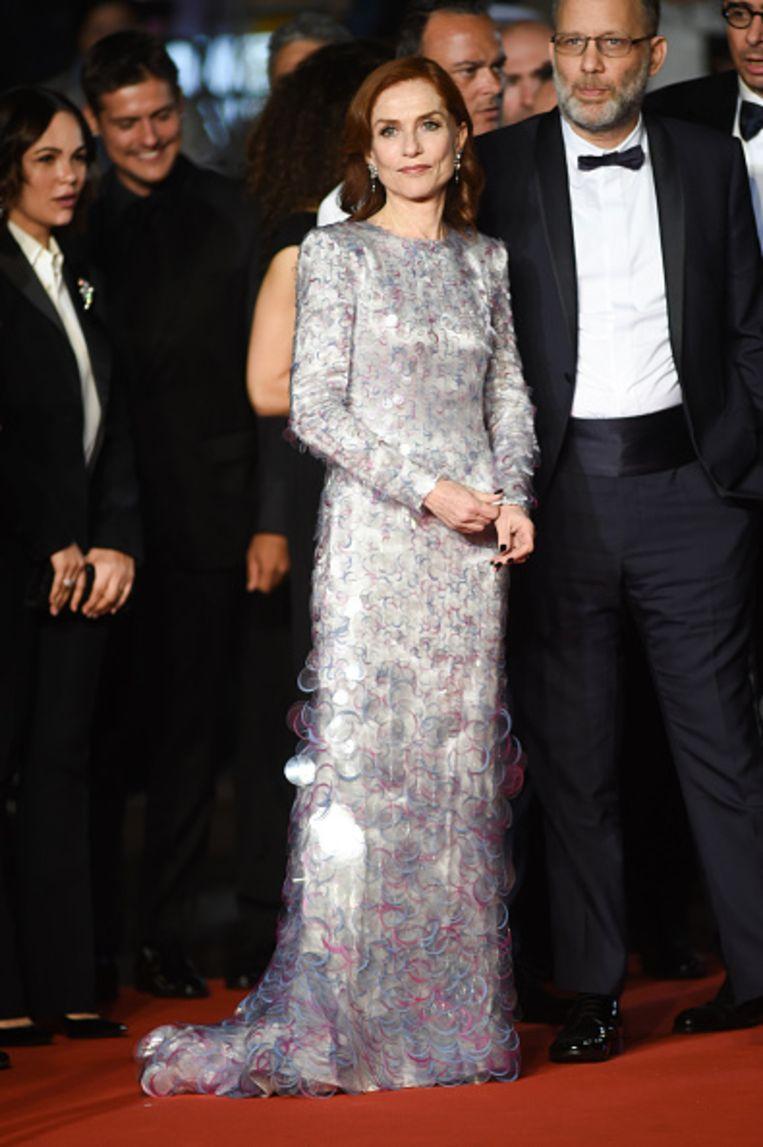 Isabelle Huppert bij het 72ste filmfestival van Cannes in 2019.  Beeld Getty