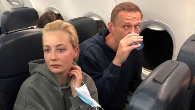 Vrouw van Navalny vliegt terug naar Duitsland