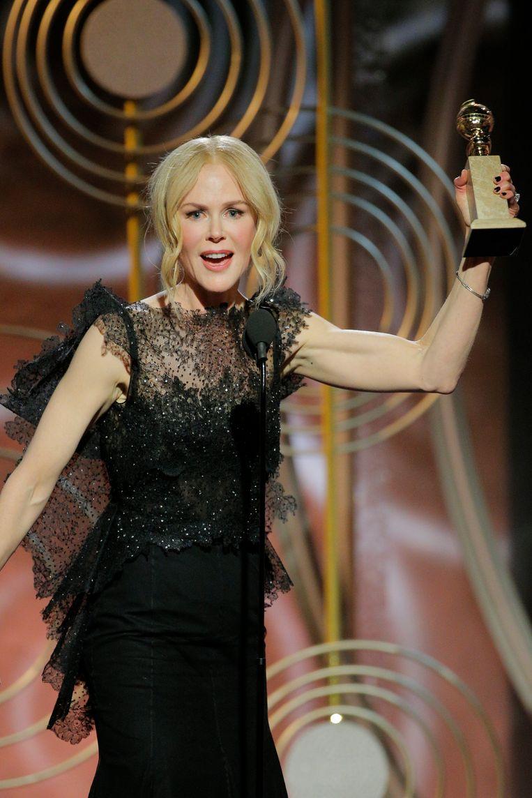 Nicole Kidman won de prijs voor beste actrice in een miniserie, voor haar rol in Big Little Lies. Beeld AP