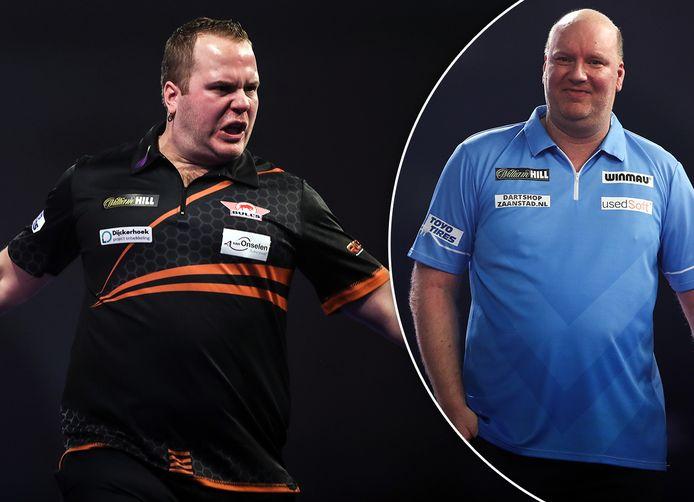 Dirk van Duijvenbode en Vincent van der Voort strijden vanavond voor een plek bij de laatste acht.