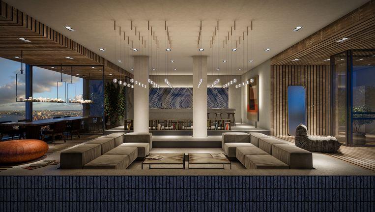 Het gecombineerde penthouse beslaat in totaal 1.440 m2. Beeld Christie's