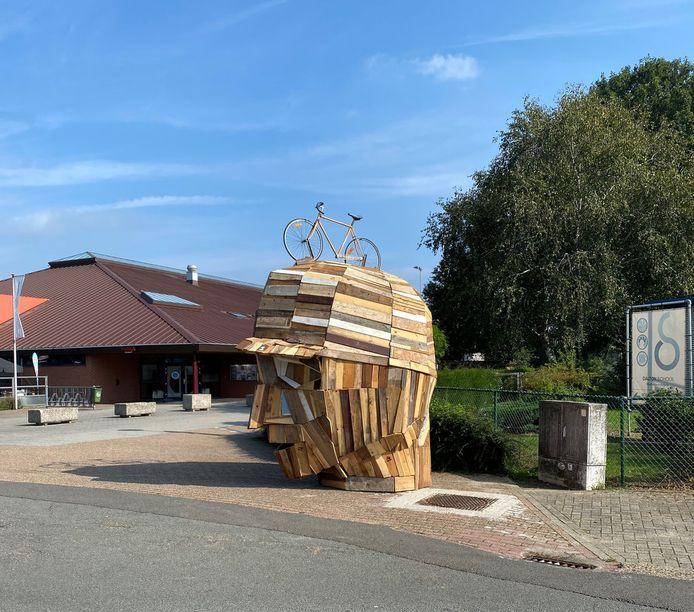De houten constructie.