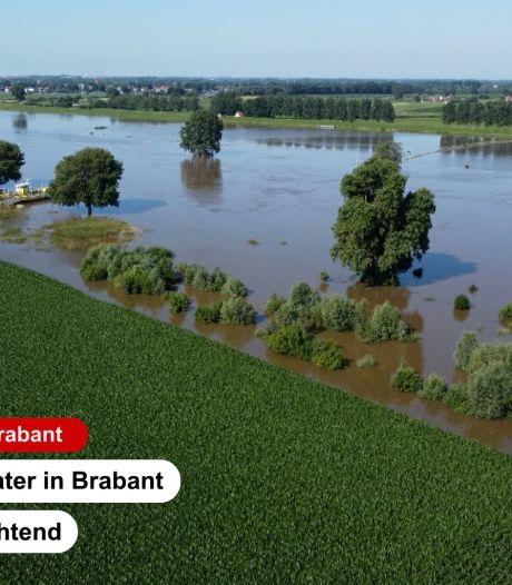 Indrukwekkende beelden: hoogwater in Brabant vanuit de lucht