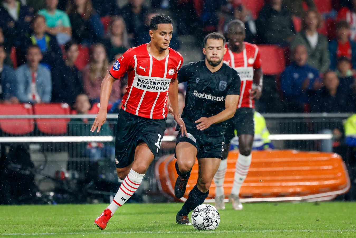 Mohamed Ihattaren in het vriendschappelijke duel van PSV met PAOK Saloniki van midden juli.