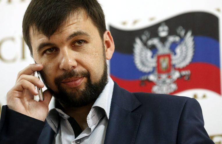 Denis Pushilin, voorzitter van de Volksrepubliek Donetsk