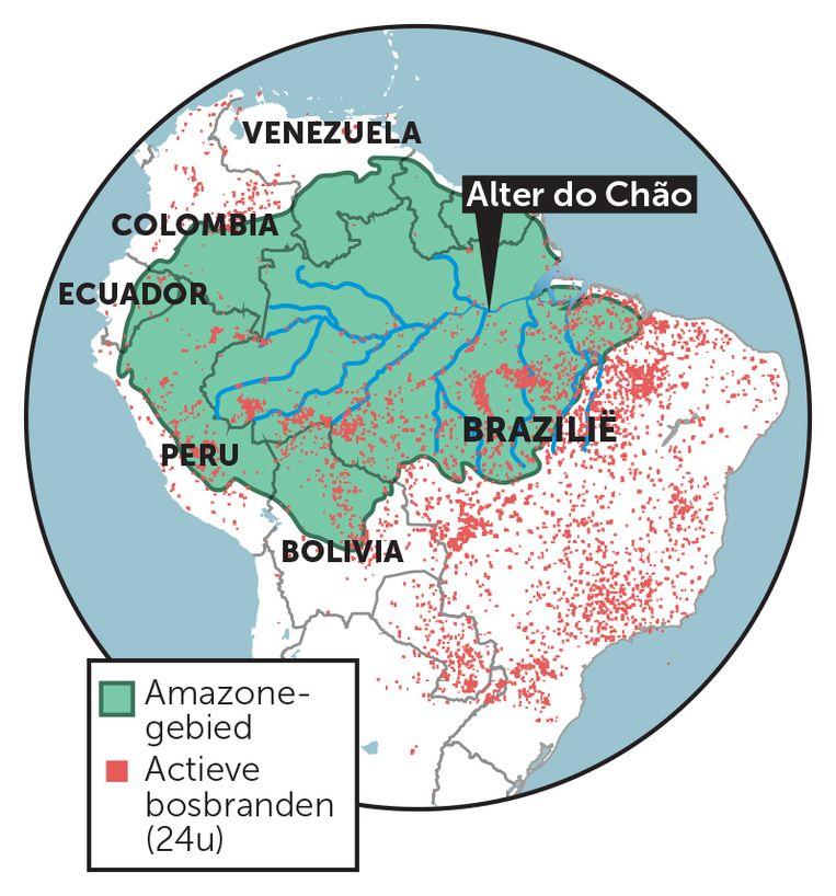Amazone bosbranden aangepast Beeld bron: nasa