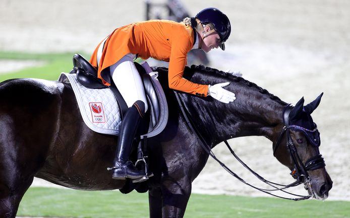 Dinja van Liere is trots op haar paard Hermès.