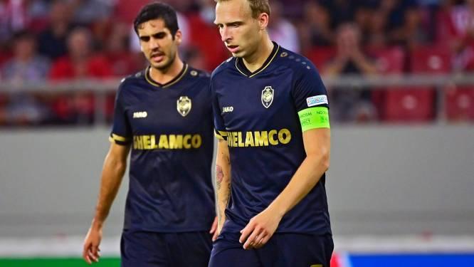 """Strijdvaardig Antwerp slikt in de slotfase fataal tegendoelpunt en gaat met 2-1 onderuit bij Olympiakos - Priske: """"We verdienden meer"""""""