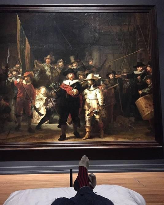 Stefan Kasper kon vanaf zijn bed de Nachtwacht van Rembrandt bewonderen.