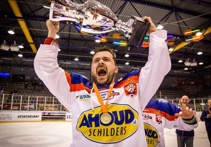 Het laatste grote succes voor het Nijmeegse ijshockey en Levi Houkes. Het landskampioenschap in 2019.