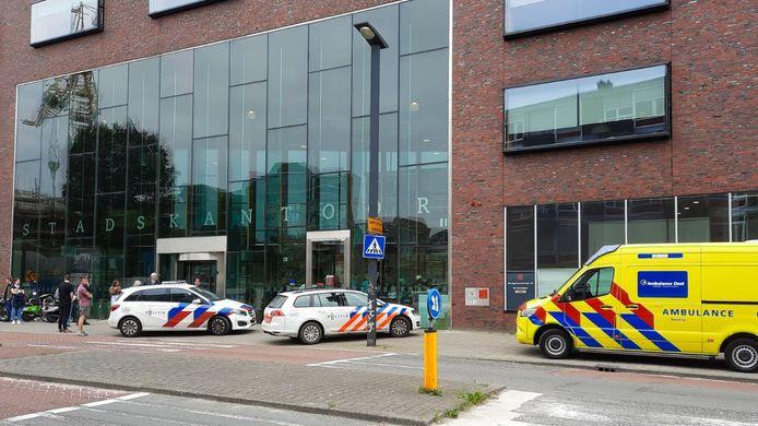Het Stadskantoor in Enschede woensdagmorgen.