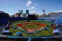 Het honkbalstadion in Yokohama.