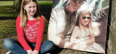 Esmee (9) uit Kloosterzande verloor haar vader aan kanker en zamelt geld in voor onderzoek: 'Dat vind ik heel belangrijk'