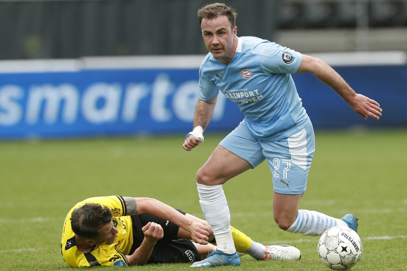 Mario Götze tijdens het duel met VVV.