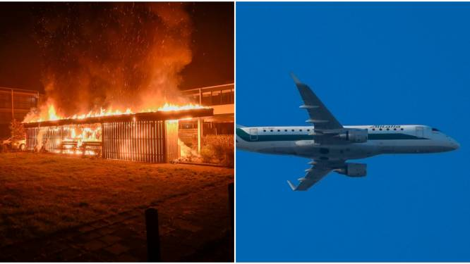 Gemist? Auto's in vlammen op in Vriezenveen en vliegtuig landt tóch niet in Enschede