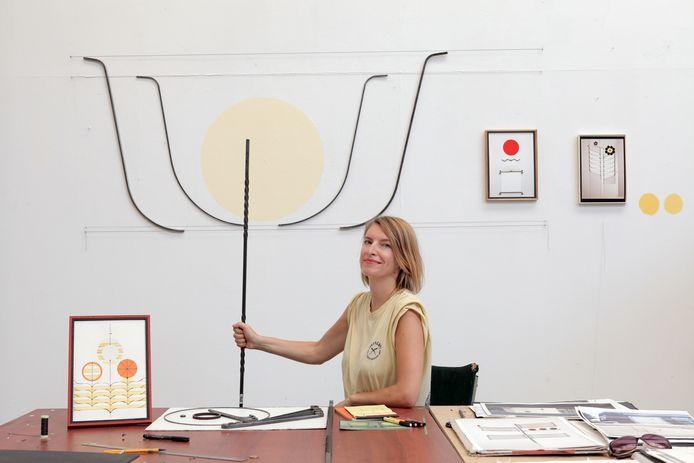 Babette Kleijn in haar atelier in Kaus Australis in Rotterdam.
