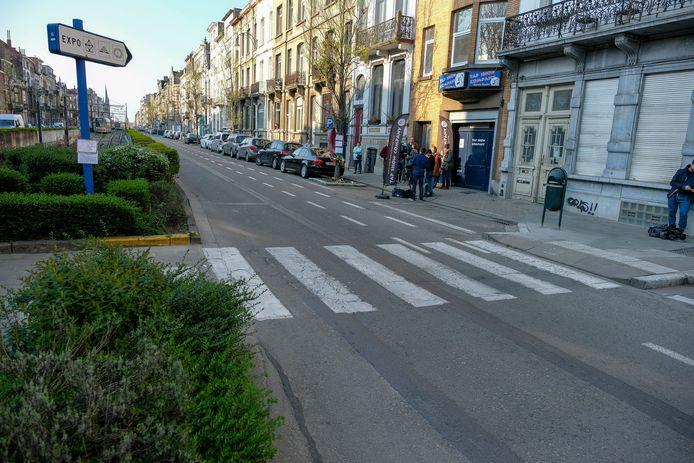 Het kruispunt waar het dodelijke ongeluk plaatsvond.
