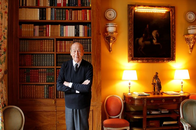 De voormalige Franse president Valery Giscard d'Estaing op een portret in 2011.  Beeld Reuters