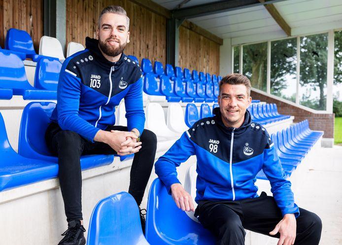 Het trainersduo van DDW/SDO Robin van Baalen (links) en Jan Knollema.