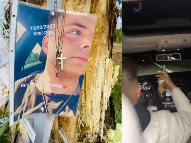Met 216 km/u en drinken achter het stuur: beelden tonen waanzinnige rijgedrag van man die achter stuur zat bij dodelijk ongeval Tibau Verelst (18)