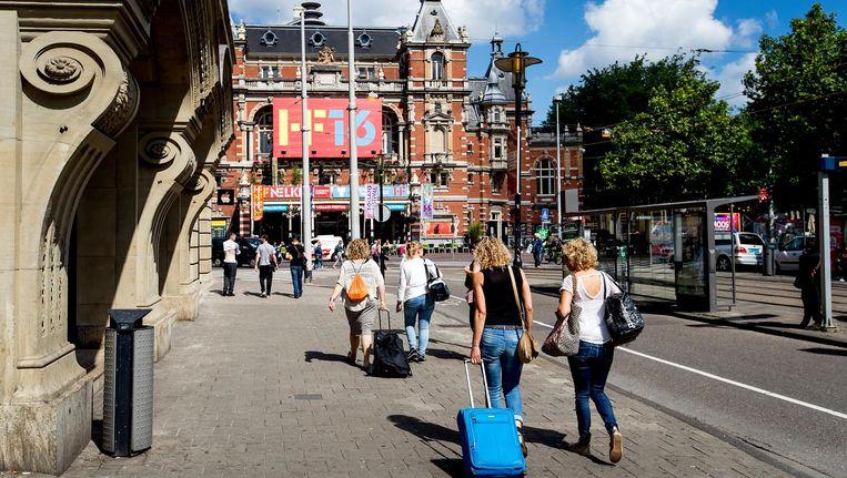Toeristen in Amsterdam. Beeld anp