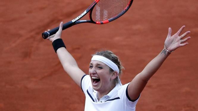Bacsinszky verrast Kvitova en ontmoet Van Uytvanck