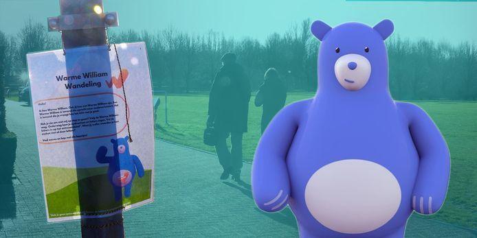Warme Willam begeleidt kinderen tijdens een actieve themawandeling doorheen Geetbets.